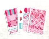 Happy Planner February Monthly View Sticker Kit, Vinyl Stickers, Valentines Day