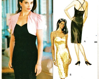 Retro Butterick Glamour Collection Pattern 4723 Skinny Straps Cocktail Party Dress Sz 6-10 Uncut FF Holiday Dress Sewing Patterns Supplies