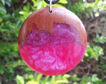 Red Cedar and Pink/Violet Opaque Resin + Free Shipping Worldwide, Rustic Jewelry, Reclaimed Wood Jewelry, Wood Resin Jewelry,Unique Jewelry