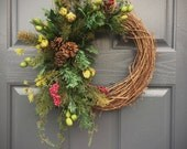 Winter Wreaths, Small Winter Wreaths, Winter Decor, Winter Gifts, Gift for Her, Winter Decorating, Door Wreaths Winter, Evergreen Wreaths