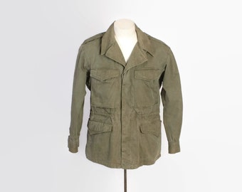 Vintage 40s WWII JACKET / 1940s M-1943 Parka Field Coat Military S - M