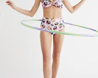 CUPCAKES: Women's bandeau top with high waist bottoms