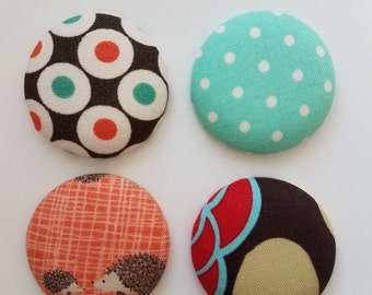 Fabric, Magnet, Unique Gift,  Creative Magnets, Cool Magnet, Refrigerator Magnets, Magnetic Gifts, Magnet Gift, Gift Magnets, Designer