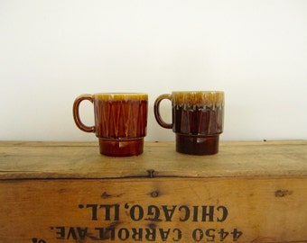 Brown Stacking Mugs
