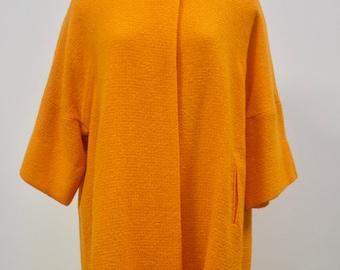 Vintage 1960s Super Stylish And Rare Mod Orange Coat