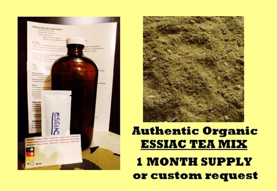 Organic ESSIAC TEA Mix - Authentic Rene Caisse recipe - Easy to make, 1 month supply herbal detox cleanse