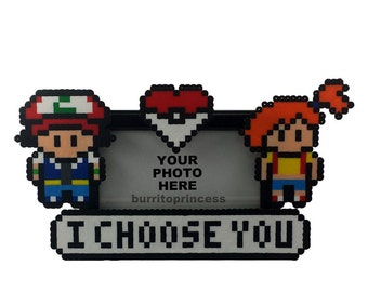 Ash and Misty Picture Frame - Pokemon Picture Frame - Pokemon Wedding Gift - Pokemon Anniversary Gift - Pokemon Valentine's Day Gift