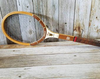 1970's WILSON TENNIS RACKET Billie Jean King Autograph