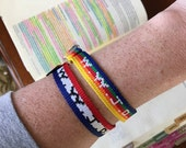 USA Red White & Blue - Wwjd Bracelet, Bible Journaling, Bookmark