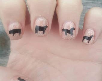 Livestock nail decals, stock show, 4H, FFA, Farm girl