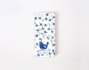 iPhone SE Case - Blueberry Bird iPhone 5 Case - iPhone 5s case - iPhone 4 case - Hard Plastic or Rubber