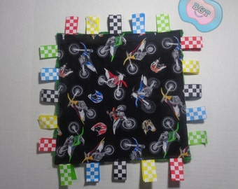 Baby Ribbon Blanket- Race car, Dirt bike