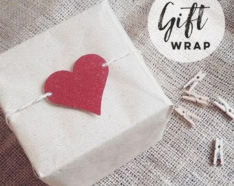 Gift Wrap and Handwritten Tag Upgrade