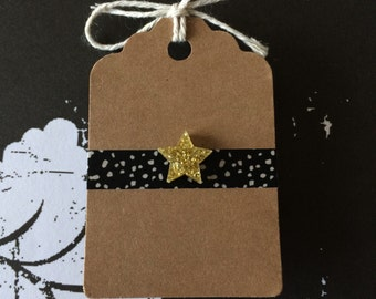 Gold Glitter Star Pin - Acrylic - Lapel Pin - Good Job Pin