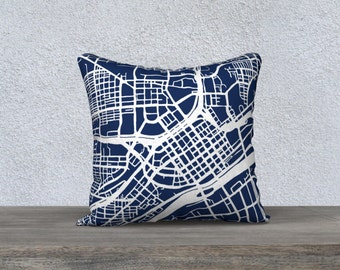Saint Paul Map Pillow Cover