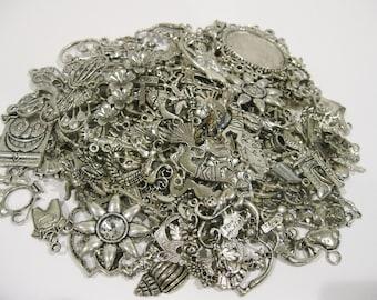 Charm Lot 200 Pieces Tibetan Silver Charms
