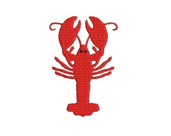 Lobster Mini Design File for Embroidery Machine Monogram Instant Download Nautical Crab