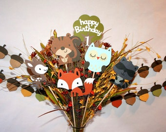 Woodland Centerpiece set / Woodland Critters Centerpiece