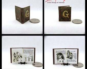 GRIMM DIARY Miniature Book Dollhouse 1:12 Illustrated Readable Book Wesen Lore TV series