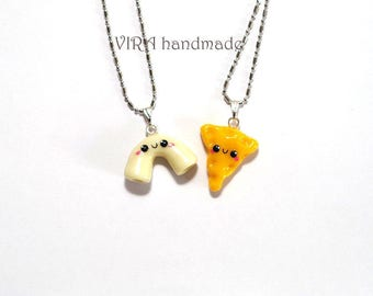 Kawaii Macaroni And Cheese Best Friends Necklaces or Earrings