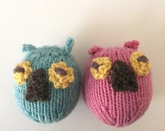 Owl Catnip Cat Toys-100% Wool (2/Package)