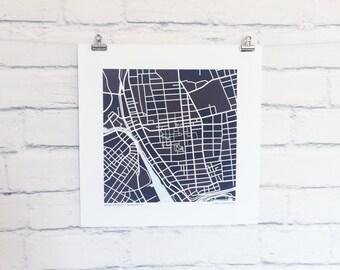Brown University Map Print