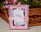 Blessings on Your Special Day - Handmade Greeting Card - Use as a Birthday Card, Graduation Card, Many Special Days