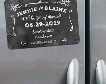 Chalkboard - Magnet - Save the Date + Envelopes