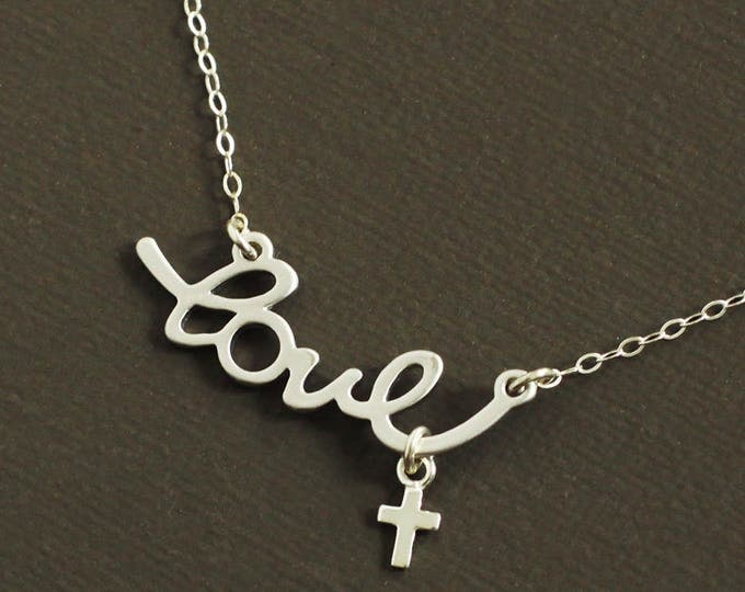 Silver Love Faith Necklace
