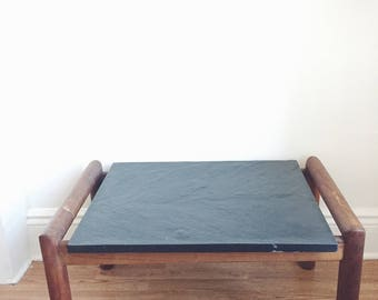 Mid Century Slate Top Walnut Coffee Table . Adrian Pearsall for Craft Associates