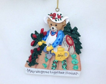 FREE SHIPPING CLEARANCE: Gardener Christmas Ornament - Gardening ornament  - Personalized Christmas Ornament for Gardeners