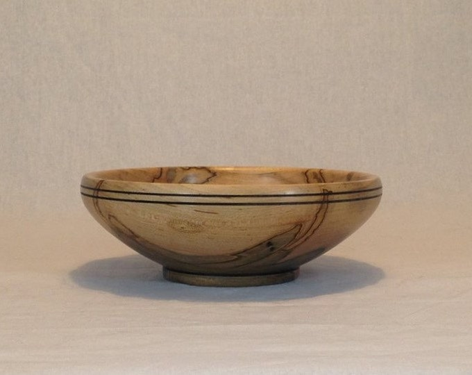Hand Turned Ambrosia Maple Bowl