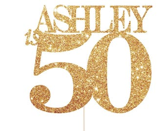 50th Birthday Decorations, 50th Birthday Party Decorations, 50th Party Decoration, 50 Cake Topper, 50th Birthday Cake Topper, 50 Birthday