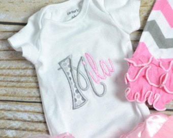 baby girl take home outfit monogrammed baby outfit baby shower