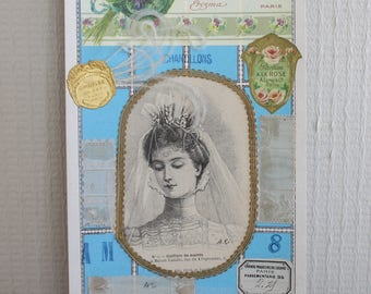 Reserved for Paula . DO NOT BUY! French victorian haberdashery sample card from 1898