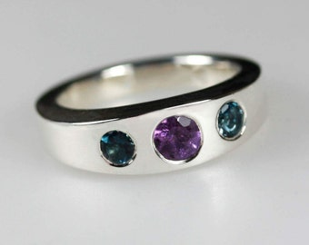 Sentiment  ~ Birthstone ring, Alternative Engagement Ring, Multi-stone Ring