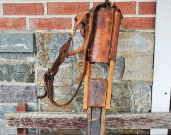 Antique Civil War Peg Leg with Leather Straps