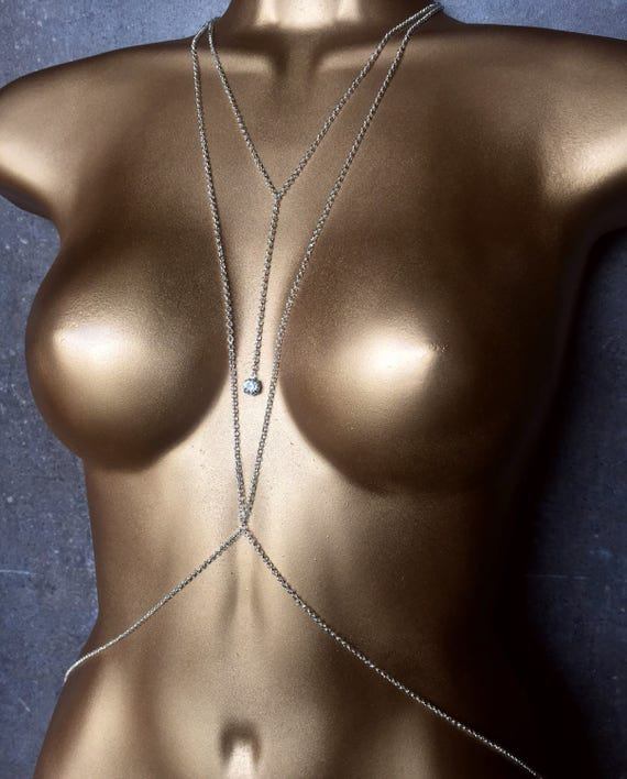 Silver Goddess Body Chain - Body Jewelry for Spring break