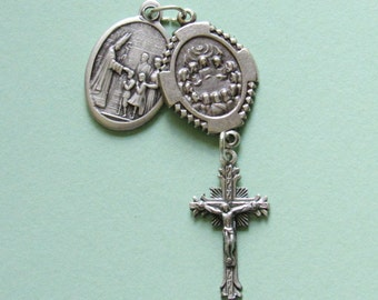 Confirmation Talisman *medal,Catholic,Christian,Jesus,Holy Spirit,prayer,good luck,unique gift idea,crucifix,religious,devotion,worship tool