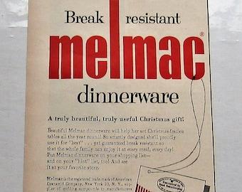 Vintage Melmac Ad, 1955