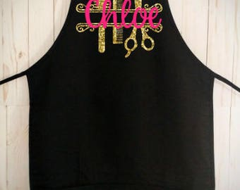 Name Hair Stylist Apron (Personalized with YOUR name or logo!!)