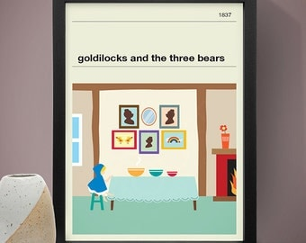 Goldilocks and the Three Bears Poster - Fairy Tale Poster, Fairy Tale Print