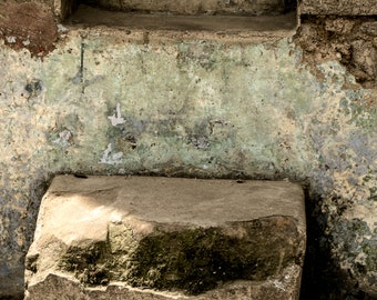 Two steps up and you are home in Quetzeltenango, Guatemala- a color photograph