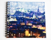 Notebook, Notepad, Edinburgh Castle Art, Scottish Stationary, Scottish Gifts, Edinburgh Skyline