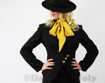 Veste noire femme, Veste asymetrique femme, veste bureau femme, veste noire