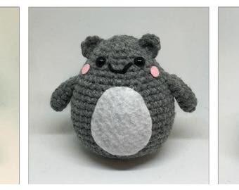Chibi Dumpling Squirrel Plush Crochet Toy