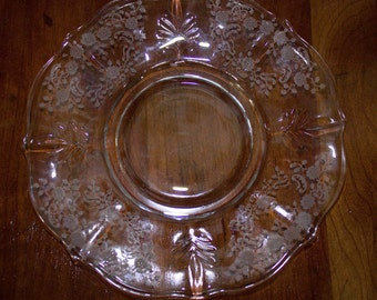 Fostoria Glass- BAROQUE MEADOW ROSE 7 Inch Salad Plate