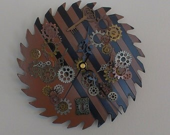 Steam Punk Saw Blade Clock