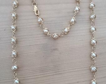 Vintage Pearl necklace and bracelet set