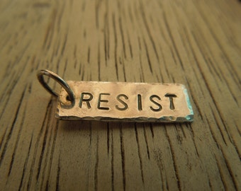 Resist pendant necklace - includes 5 dollar donation - Do Not Normalize this bullshit.